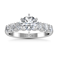 Pave Engagement Ring Karen 14K White Gold