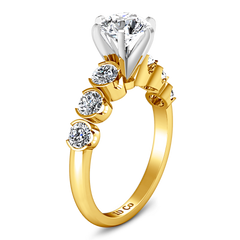 Pave Engagement Ring Karen 14K Yellow Gold