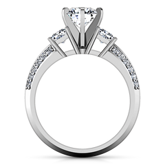 Three Stone Engagement Ring Ivana 14K White Gold