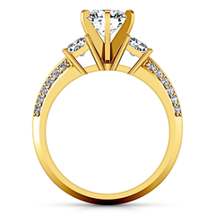 Three Stone Engagement Ring Ivana 14K Yellow Gold