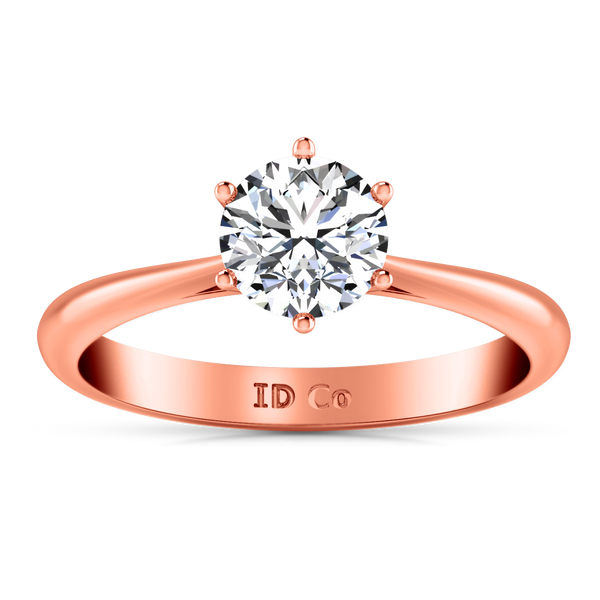 Solitaire Engagement Ring Alexa  14K Rose Gold
