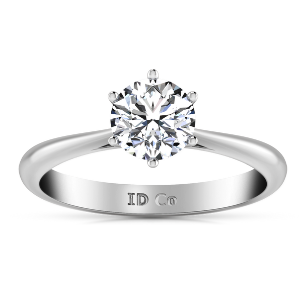 Solitaire Engagement Ring Alexa  14K White Gold