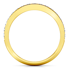 Diamond Wedding Band Valse 0.51 Cts 14K Yellow Gold