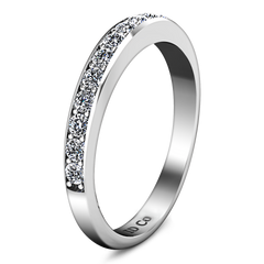 Diamond Wedding Band Valse 0.51 Cts 14K White Gold