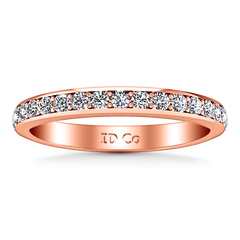 Diamond Wedding Band Valse 0.51 Cts 14K Rose Gold