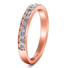 Diamond Wedding Band Carina 0.61 Cts 14K Rose Gold