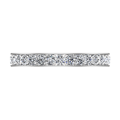 Diamond Wedding Band Carina 0.61 Cts 14K White Gold