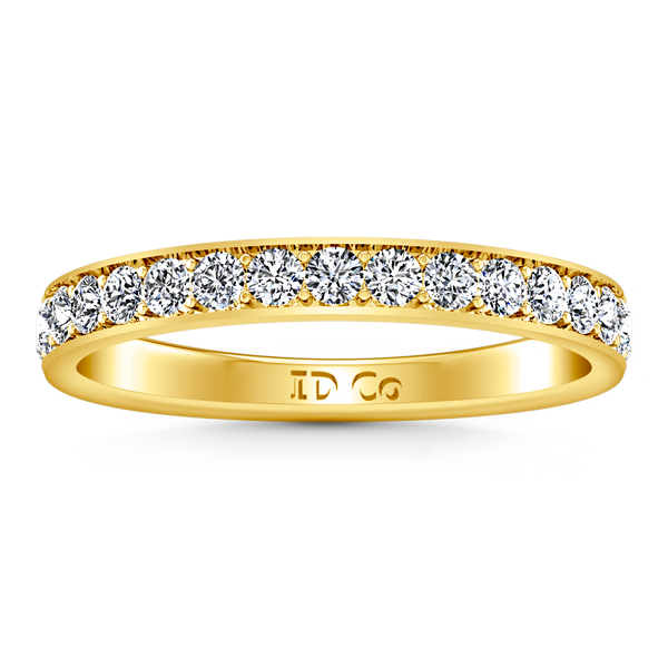 Diamond Wedding Band Carina 0.61 Cts 14K Yellow Gold