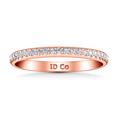 Diamond Wedding Band Mandy 0.29 Cts 14K Rose Gold