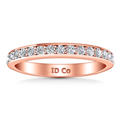 Diamond Wedding Band Patricia 0.61 Cts 14K Rose Gold