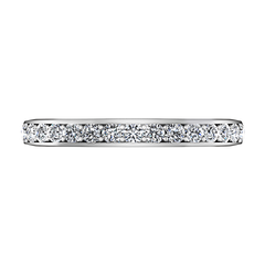 Diamond Wedding Band Patricia 0.61 Cts 14K White Gold
