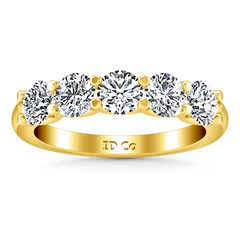 Diamond Wedding Band Jenny 0.25 Cts 14K Yellow Gold