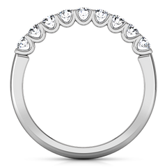 Diamond Wedding Band Nicole 0.63 Cts 14K White Gold