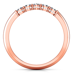 Diamond Wedding Band Lucerne 0.25 Cts 14K Rose Gold