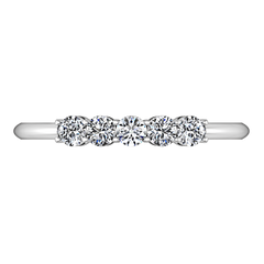 Diamond Wedding Band Lucerne 0.25 Cts 14K White Gold