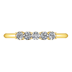 Diamond Wedding Band Lucerne 0.25 Cts 14K Yellow Gold