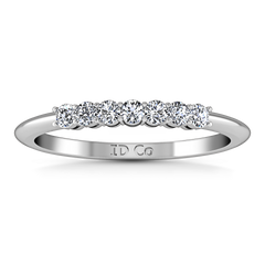 Diamond Wedding Band Savannah 0.11 Cts 14K White Gold