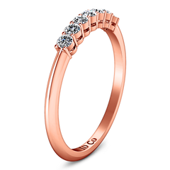 Diamond Wedding Band Savannah 0.11 Cts 14K Rose Gold