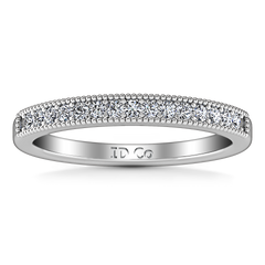 Diamond Wedding Band Tiffany 0.45 Cts 14K White Gold