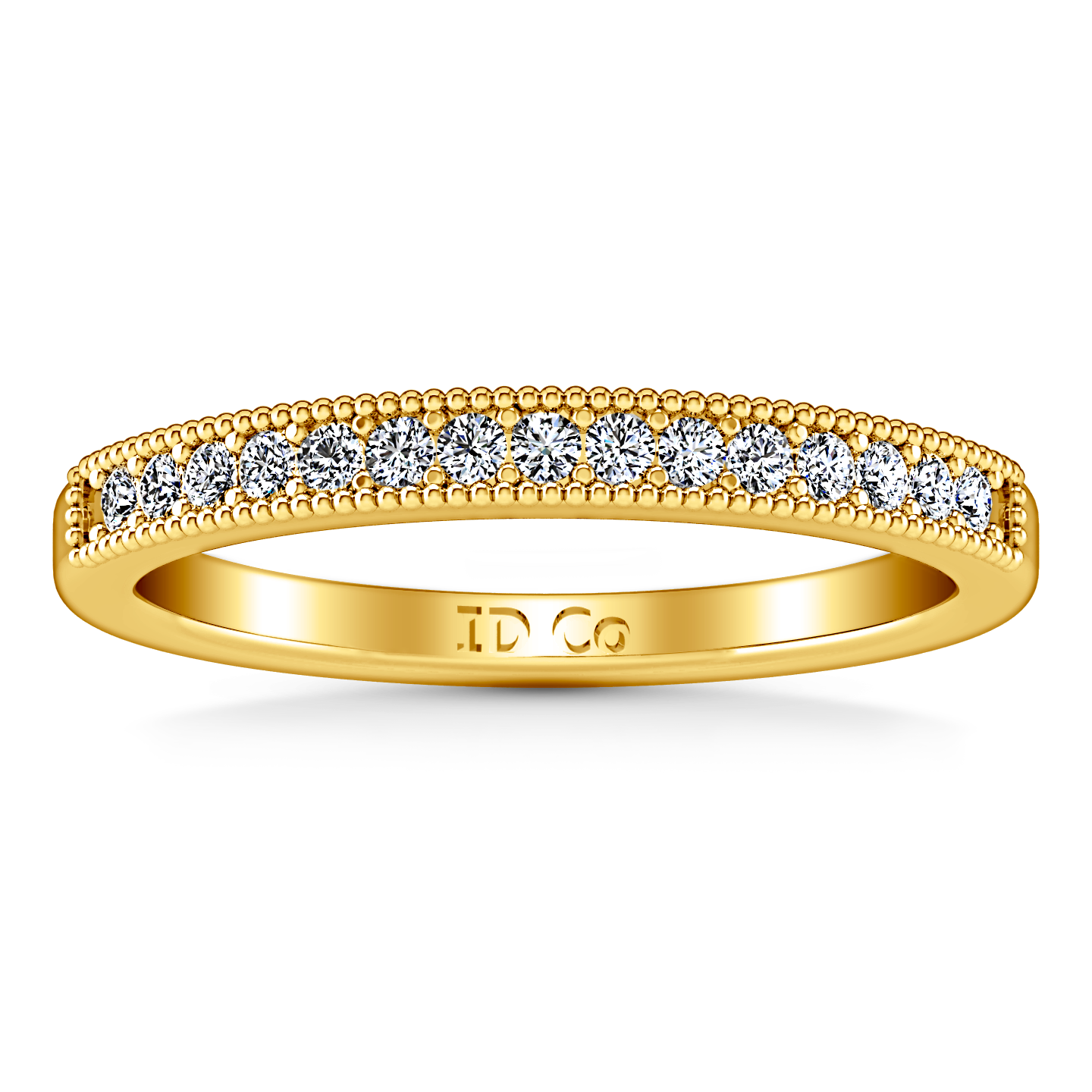 diamond wedding band tiffany 0 45 cts 14k yellow gold – imagine