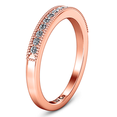 Diamond Wedding Band Tiffany 0.45 Cts 14K Rose Gold