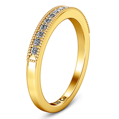 Diamond Wedding Band Tiffany 0.45 Cts 14K Yellow Gold