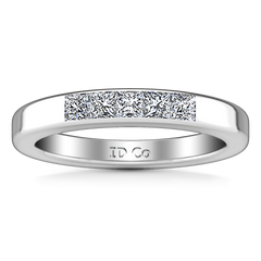 Diamond Wedding Band Abelia 0.35 Cts 14K White Gold
