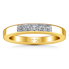 Diamond Wedding Band Abelia 0.35 Cts 14K Yellow Gold