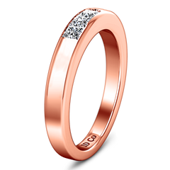 Diamond Wedding Band Abelia 0.35 Cts 14K Rose Gold