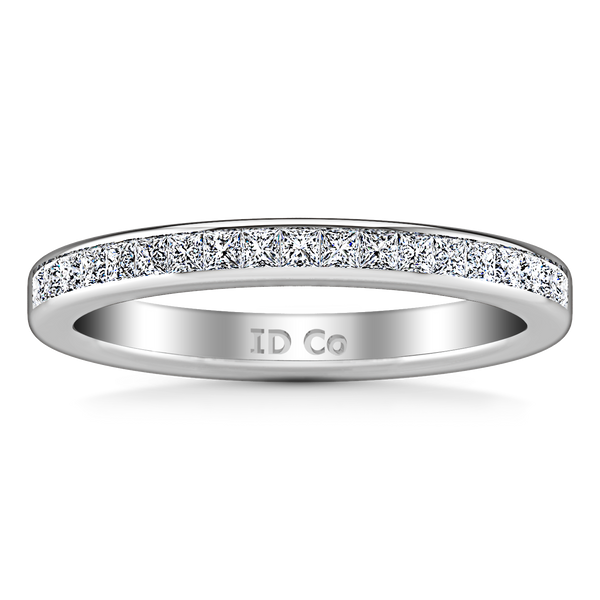 Diamond Wedding Band Amy 0.57 Cts 14K White Gold