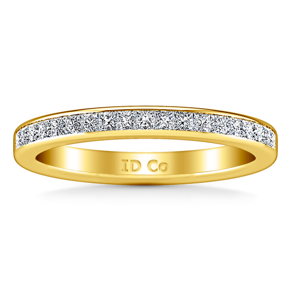 Diamond Wedding Band Amy 0.57 Cts 14K Yellow Gold