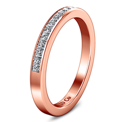 Diamond Wedding Band Amy 0.57 Cts 14K Rose Gold