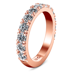 Diamond Wedding Band Kimberly 0.39 Cts 14K Rose Gold