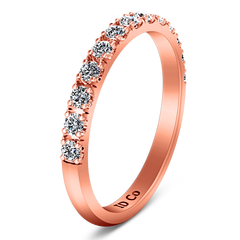 Diamond Wedding Band Larissa 0.51 Cts 14K Rose Gold