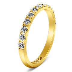 Diamond Wedding Band Larissa 0.51 Cts 14K Yellow Gold