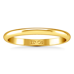 Wedding Band Comfort Fit 2Mm 14K Yellow Gold