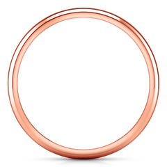 Wedding Band Comfort Fit 2Mm 14K Rose Gold