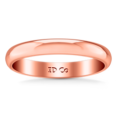 Wedding Band Comfort Fit 3Mm 14K Rose Gold