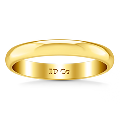 Wedding Band Comfort Fit 3Mm 14K Yellow Gold