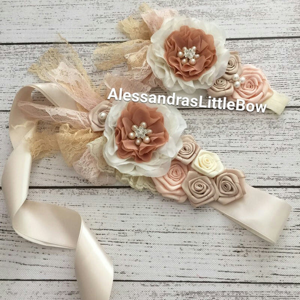 Sash and headband sets