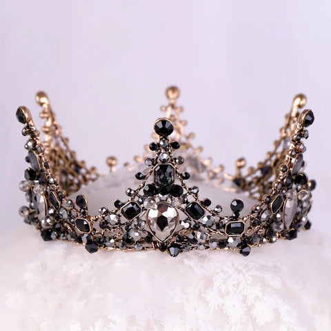 Luxury Black crystal full crown - pre order