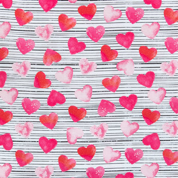 Stripped Hearts Skirted Bloomers - AlessandrasLittleBow