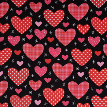 Red and Black Hearts Skirted Bloomers - AlessandrasLittleBow