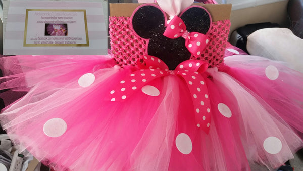 pink Minnie mouse tutu dress - AlessandrasLittleBow