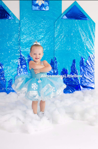 Frozen deluxe tutu dress - AlessandrasLittleBow