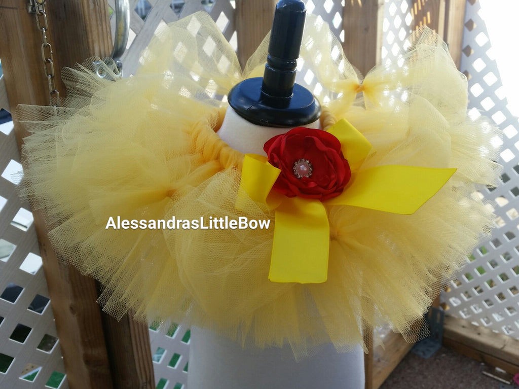 Princess Belle  tutu skirt - AlessandrasLittleBow