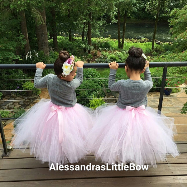 full lenght flower girl tutu skirt - AlessandrasLittleBow