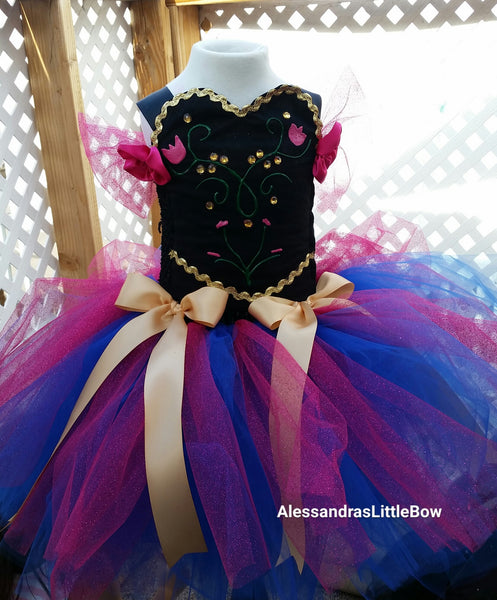 Anna inspired tutu dress - AlessandrasLittleBow