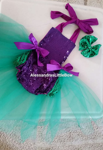 mermaid romper - AlessandrasLittleBow