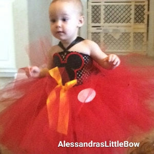 Red Mickey mouse tutu dress - AlessandrasLittleBow